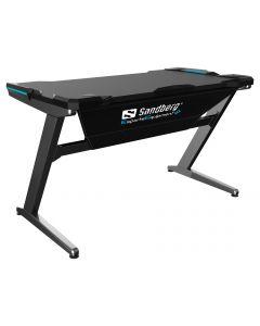 Sandberg Fighter Gaming Desk, Grey computerbureau Grijs