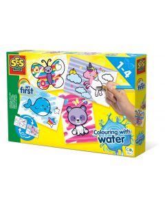 SES Creative My First Kleuren met water - Fantasie dieren