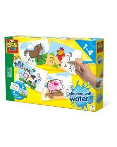 SES Creative My First Kleuren met water - Boerderij dieren