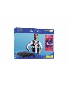 Sony PlayStation 4 Slim + FIFA 19 500 GB Wi-Fi Zwart